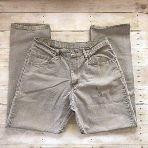 Wrangler Relaxed Fit Mushroom Gray 5 Pocket Jeans